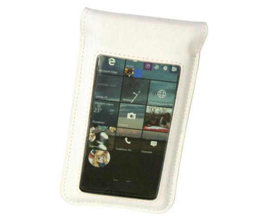 T-One kormányra szerelhető mobiltelefon tartó táska max 4,3  colos telefonhoz, fehér