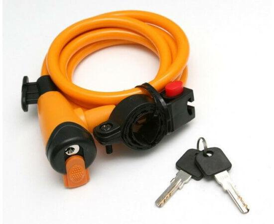 Spyral City kulcsos sodronyzár, 10 mm x 150 cm, narancs