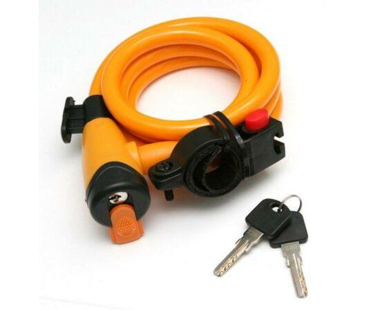 Spyral City kulcsos sodronyzár, 12 mm x 150 cm, narancs