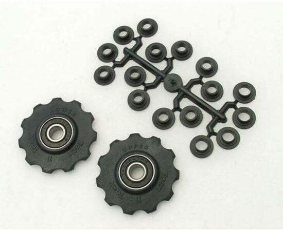 Tacx T-4050 ipari csapágyas váltógörgő szett (alsó és felső), Shimano-hoz, 9-10s, fekete