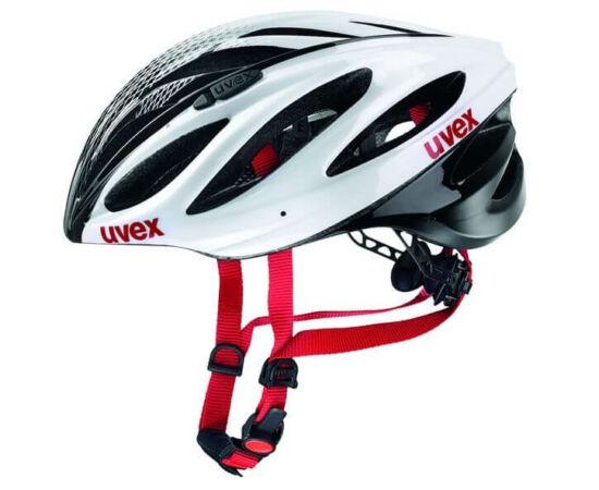 Uvex Boss Race országúti bukósisak, 55-60 cm, fekete-fehér