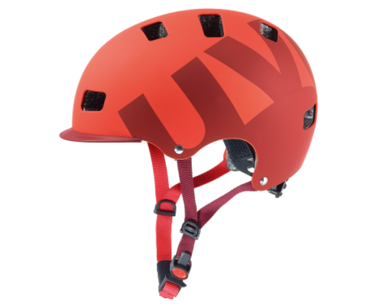 Uvex HLMT 5 Bike Pro dirt bukósisak, 55-58 cm, matt piros