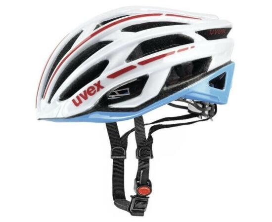 Uvex Race 5 országúti bukósisak, 52-56 cm, fehér-kék