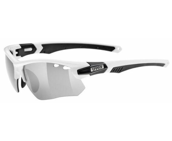 Uvex Sportstyle 109 cserélhető lencsés kerékpáros sportszemüveg, fehér-fekete, 3 lencsével (S3-S1-S0)