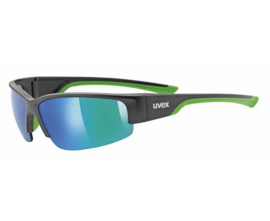 Uvex Sportstyle 215 sportszemüveg, fekete-zöld