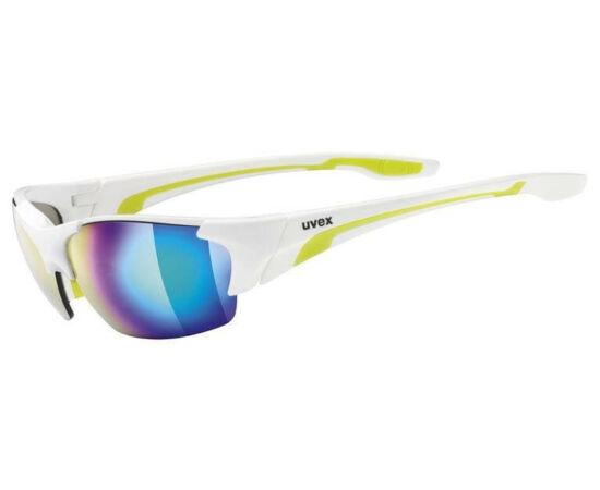 Uvex Blaze III cserélhető lencsés kerékpáros sportszemüveg, fehér-zöld, 3 lencsével (S3-S1-S0)