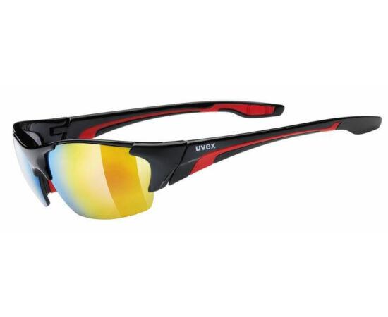 Uvex Blaze 3 cserélhető lencsés kerékpáros sportszemüveg, 3 lencsével, fekete-piros