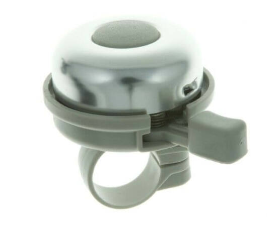 Zoggie Classic Ding-Dong csengő, 40 mm-es, krómozott-szürke