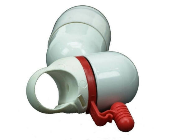 Zoggie 34 mm-es csengő, fehér-piros