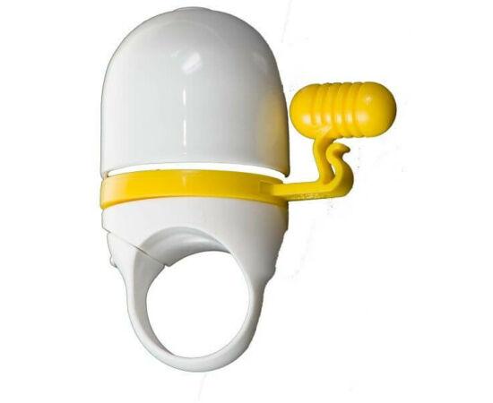 Zoggie 34 mm-es csengő, fehér-sárga