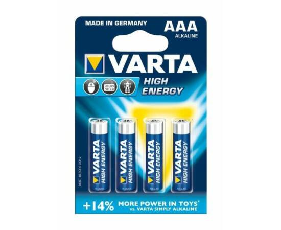 Varta High Energy AAA mikro ceruza elem, 4 db