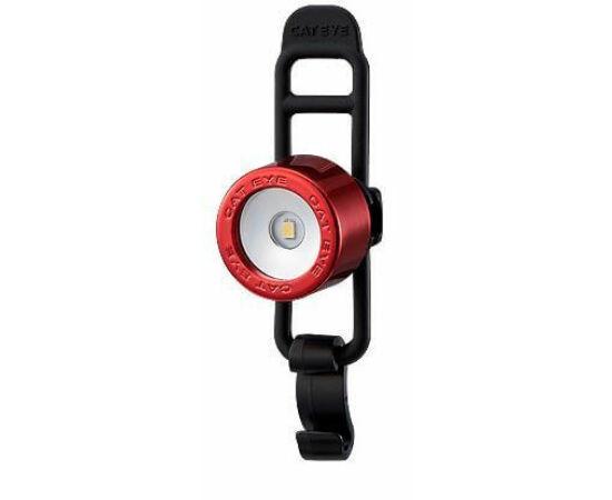 Cateye Nima 2 TL-LD135F gumipántos első villogó lámpa, 1 LED, piros