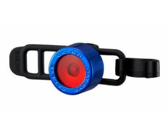 Cateye Nima 2 TL-LD135R gumipántos hátsó  villogó lámpa, 1 LED, kék