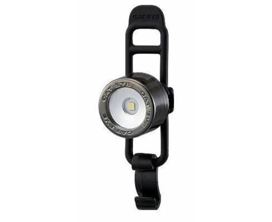 Cateye Nima 2 TL-LD135F gumipántos első villogó lámpa, 1 LED, ezüst