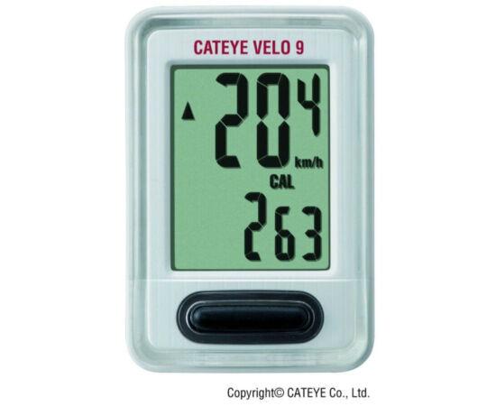 Cateye Velo 9 CC-VL820 vezetékes kerékpár komputer, fehér