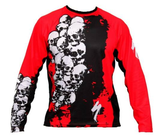 Specialized Terra Skull férfi hosszú ujjú mez, fekete-piros, L-es