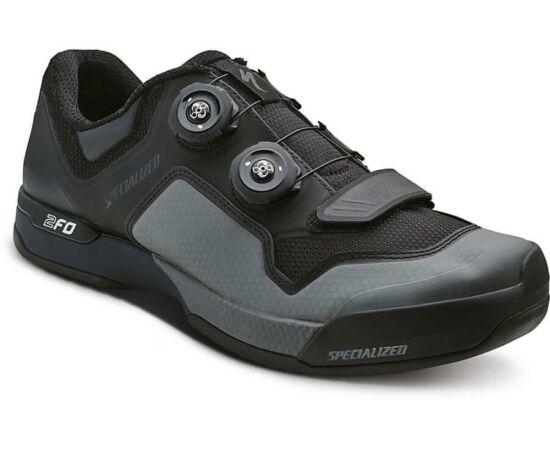 Specialized 2FO Cliplite SPD MTB kerékpáros cipő, fekete-szürke, 47-es