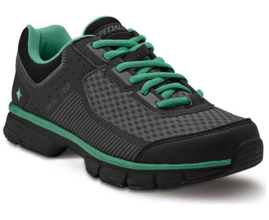 Specialized Cadette SPD MTB kerékpáros cipő, fekete-zöld, 39-es