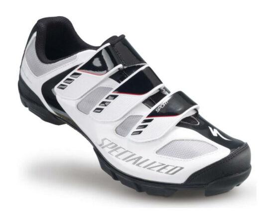 Specialized Sport MTB kerékpáros cipő, fehér-fekete, 45-ös