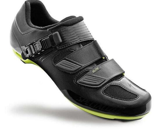 Specialized Elite Road országúti kerékpáros cipő, fekete-zöld, 45-ös
