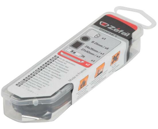 Zefal Repair Station acél nyomásmérős lábpumpa, gumijavító és marokszerszám-készlet, 8 bar, minden szeleptípushoz