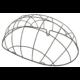 Basil Pasja közepes méretű acél keret kisállat szállító kosárhoz, 45cm, fekete