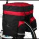 Roswheel túratáska hátsó csomagtartóra, 3 részes, 60L, fekete-piros