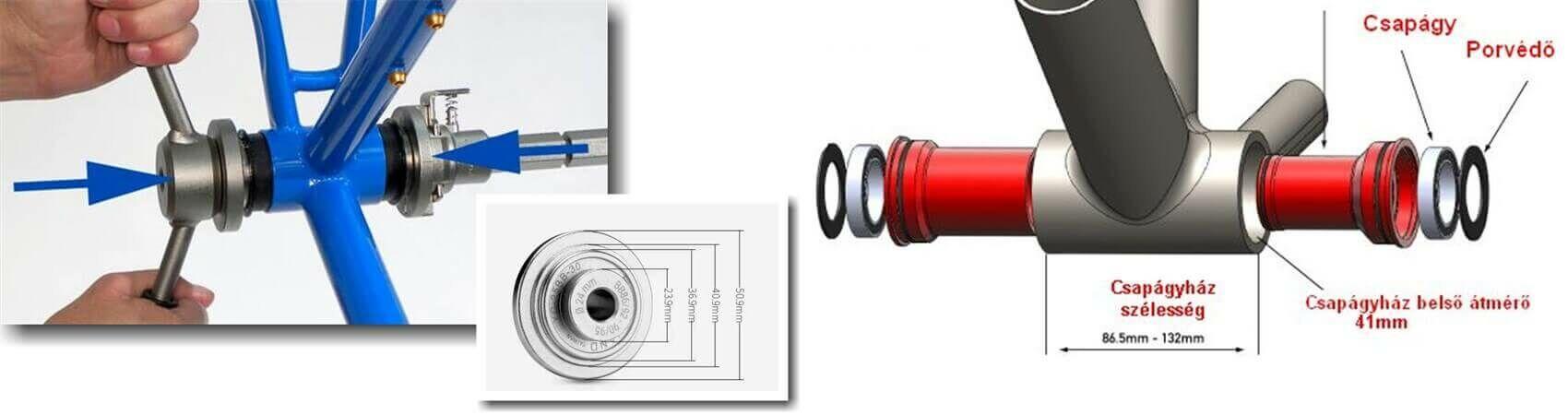 9k_középcsapágyak kompatibilitása melyik vázhoz milyen középcsapágy hajtómű