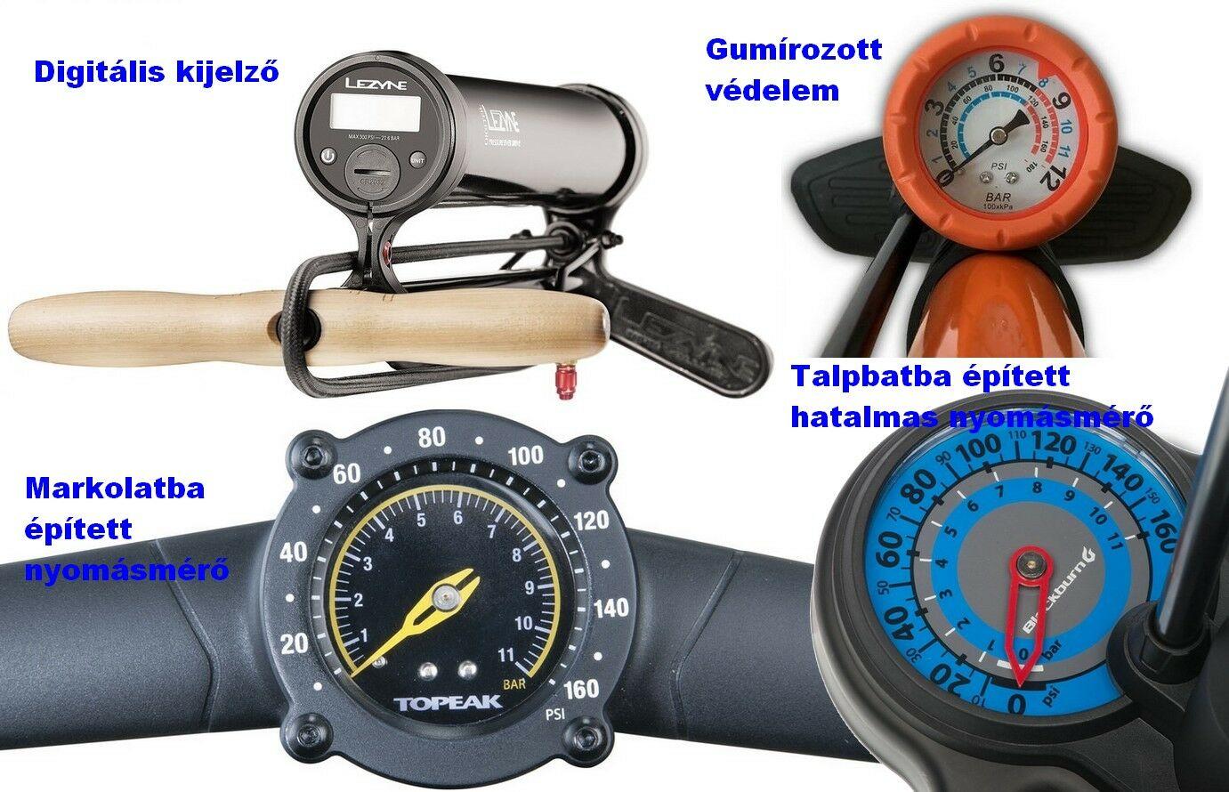 kerékpár pumpa nyomásmérő típusok - bikepro.hu
