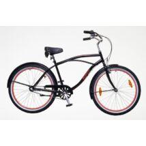 Neuzer Miami 2018 26-os férfi cruiser kerékpár, 1s, acél, fekete