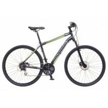 Neuzer X300 2018 férfi 28-as krossz kerékpár, alumínium, 24s, 19-es vázméret, fekete-zöld-szürke