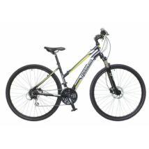Neuzer X300 2018 női 28-as krossz kerékpár, alumínium, 24s, 19-es vázméret, fekete-fehér-zöld