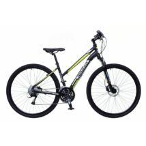 Neuzer X400 2018 női 28-as krossz kerékpár, alumínium, 27s, 17-es vázméret, fekete-fehér-zöld