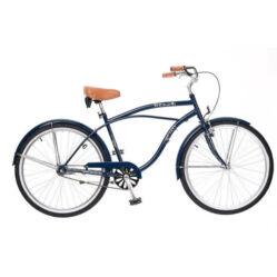 838ed96aadc0 Neuzer Beach 26-os férfi cruiser kerékpár, acél, 1s, sötétkék