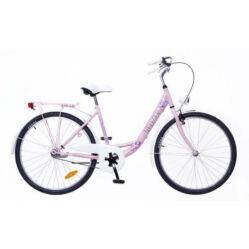 079af92e1a8b Neuzer Balaton Plus 26-os női városi kerékpár világos rózsaszín, virágmintás