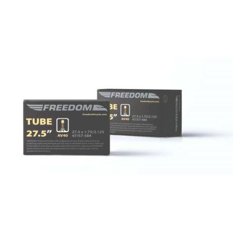 Freedom 27,5 x 2,1-2,35 (54-62x584) MTB belső gumi, AV40 (40 mm hosszú szeleppel, menetes, autós)