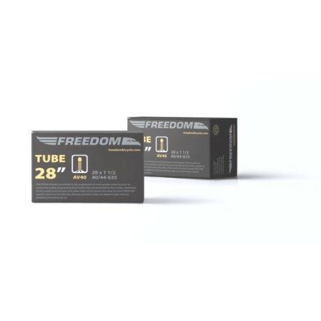 Freedom 28 x 1 1/2 (40-44x630) belső gumi, AV40 (40 mm hosszú szeleppel, menetes, autós)