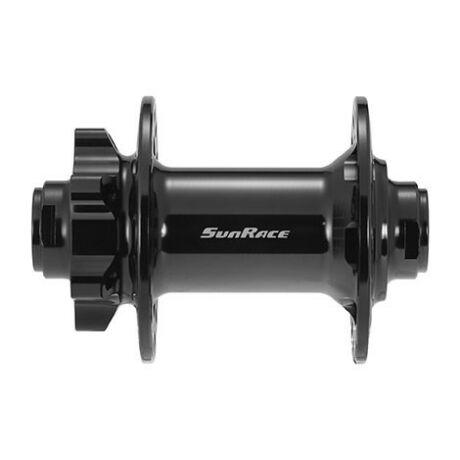 SunRace HBMX82 első kerékagy, 32H, ipari csapágyas, átütőtengelyes (15x100 mm), tárcsafékes, fekete