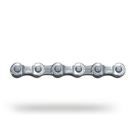 Sunrace CNM84 kerékpár lánc, 6-7-8s, 116 szem, patenszemmel, ezüst