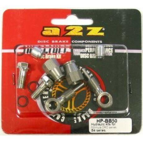 a2Z HP-BB50 hidraulikus fékvezeték banjo szett Formula Oro, B4 fékekhez, 5 mm fékcsőhöz