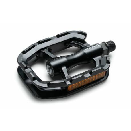 Bikefun Sole alu keretes alumínium pedál,ipari siklócsapágyas, fekete