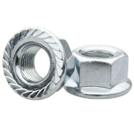 Krómozott, peremes acél tengelyanya 5/16 colos menetes első tengelyhez, párban