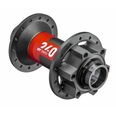 DT Swiss 240 EXP első kerékagy, 28H, tárcsafékes (6 csavaros), átütőtengelyes (15 x 100 mm), fekete