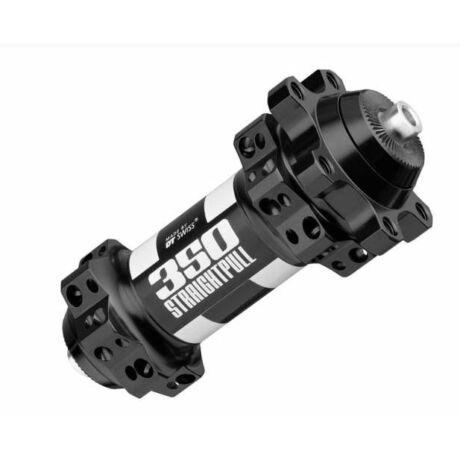DT Swiss 350 Straightpull első agy, 28H, tárcsafékes (6 csavaros), gyorszáras, fekete