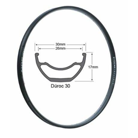 SUNringlé Düroc 35 MTB felni, 27,5 colos (584x35/31 mm), 28H, tárcsafékes, TL-Ready, 495g, fekete