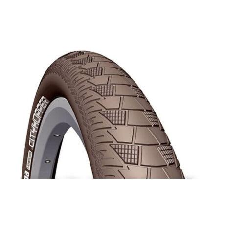 Rubena Cityhopper V99 26 x 2,0 (52-559) külső gumi, barna, defektvédett (APS), reflexcsíkos, 22TPI, 860g