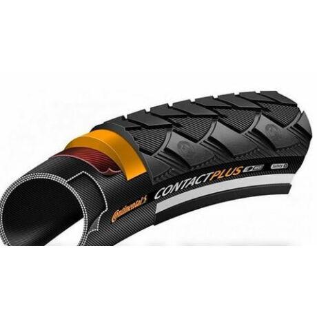 Continental Contact Plus 28 x 1,1 (28-622) külső gumi (köpeny), defektvédett (Safety Plus Breaker), reflexcsíkos, E50, 740g