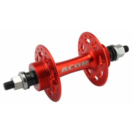 Acor AHU21005R hátsó pálya kerékagy, 32H, csavaros, ipari csapágyas, piros
