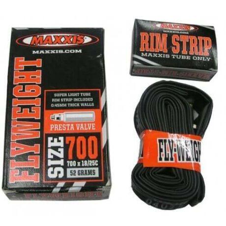 Maxxis Flyweight (0,45 mm) 622 x 18/25 (700C) országúti belső gumi 32 mm hosszú szeleppel, presta