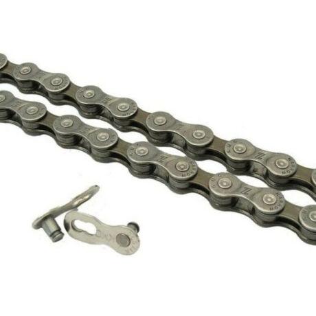 KMC Z7 kerékpár lánc, 6-7-8s, 110 szem, barna
